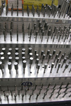 carbide bur display rack