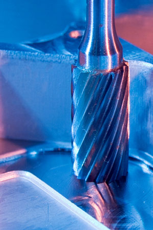 carbide steel bur machining aluminum